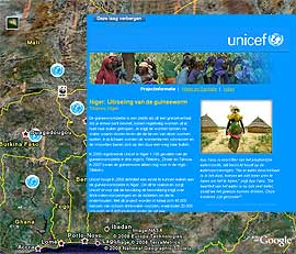 Unicef in Google Earth